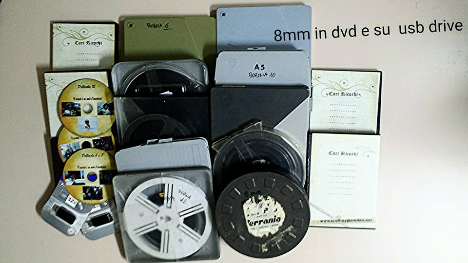 Pellicole 8 mm in dvd e in digitale avi mp4