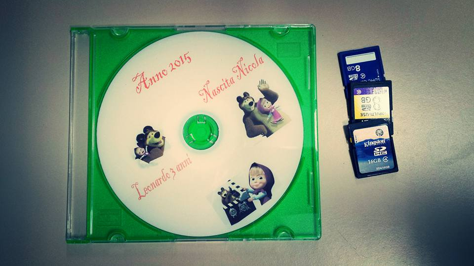 Filmati estrapolati da scheda di memoria in dvd